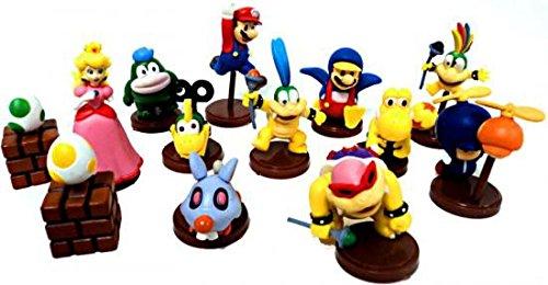 Furuta New Super Mario Bros. Wii Collection Series 1 Set of 13 Mini 2 Inch PVC Figures Includes Penguin Mario Variant Egg!