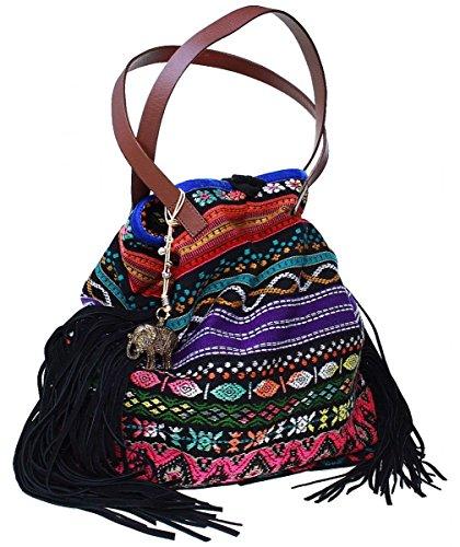Anokhi  Paraty, Sac pour femme à porter à l'épaule turquoise turquoise