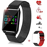 Fitness Tracker Watch Color Screen with Heart Rate...