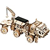 ROKR Mechanical Models,3-D Wooden Puzzle,Solar Energy Powered Cars-Moveable DIY Assembly Toy,Mechanical Gears Constructor Kits,Brain Teaser,Best Gifts for Adults & Teens (Hermes Rover)