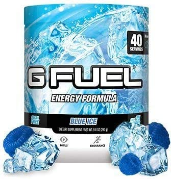 G Fuel Blue Ice Tub 40 Servings Elite Energy and Endurance Formula Net Wt 9.8 Ounce