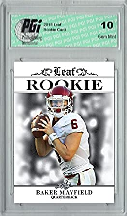 8e2b669ca Amazon.com  Baker Mayfield 2018 Leaf Exclusive  RA-01 Only 4