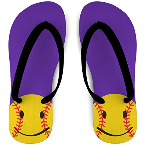 Softbal-slippers Smiley Paars