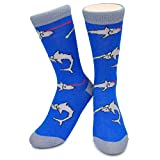 Apparel : Funky Novelty Socks - Sharks with Fricken Lasers Austin Powers Girls Womens Mens