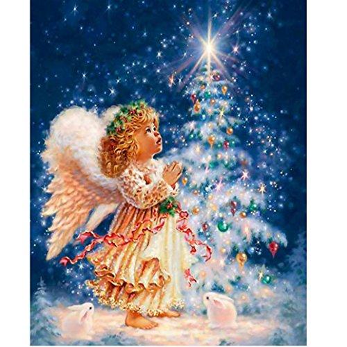 deesee tm diy diamond 5d embroidery paintings rhinestone pasted diy christmas painting cross stitch