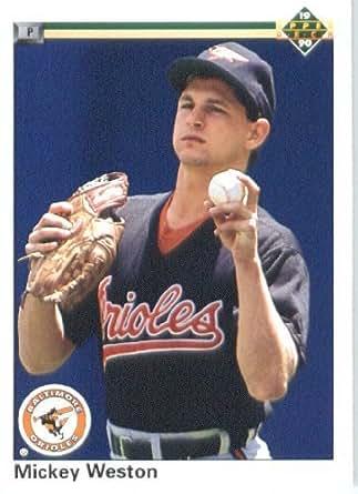 1990 Upper Deck # 683 Mickey Weston Baltimore Orioles - MLB Baseball Trading Card