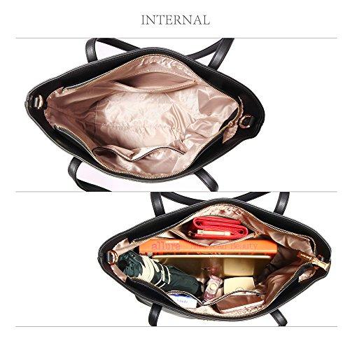 Faux Black Bag Womens Tote Ladies New Leather Handbag Shoulder I6a6wCpq