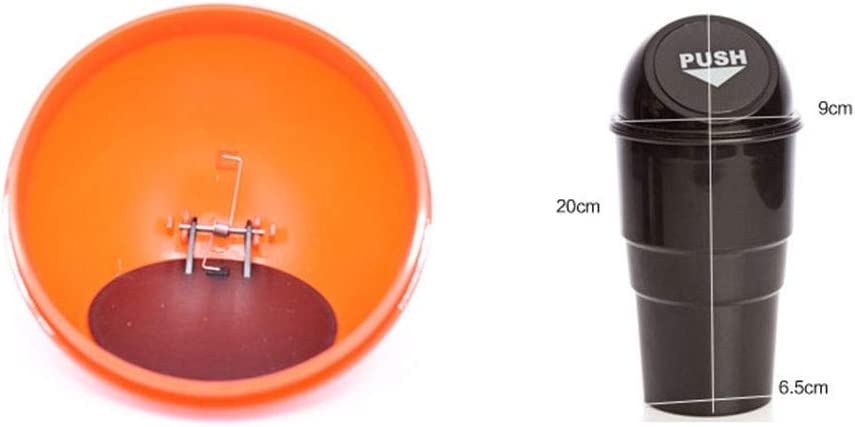 Iswell Car Bin Mini Trash Can With Lid For Car Cup Holder Washable Plastic Automotive Kitchen And Office Dust Holder
