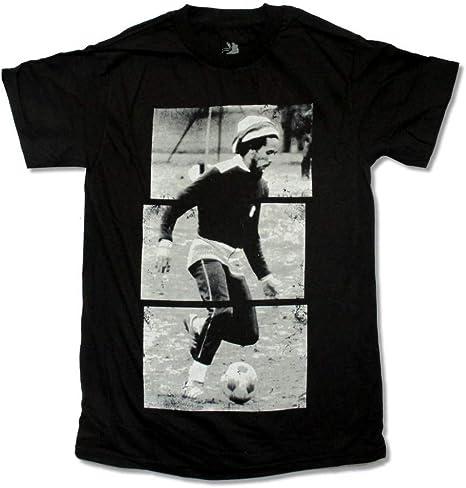 GKKYU Jugar al fútbol Fotos Antiguas Camiseta Negra Estilo Retro ...