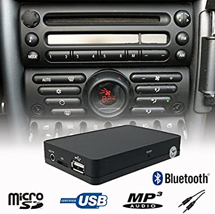 Manos Libres Bluetooth A2DP USB SD AUX Adaptador de Interfaz de Cambiador de CD para Coche Mini Cooper R50 R52 R53 Boost Radio