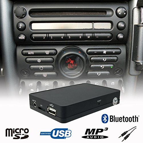 Stereo Bluetooth Handsfree A2DP USB SD AUX MP3 WMA CD Changer Adapter Interface Car Kit Mini Cooper R50 R52 R53 Boost Radio ()