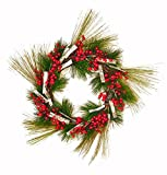 Worth Imports Pine Wreath with Weatherproof Berry/Birch Bark