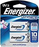 Energizer Ultimate Lithium 9V 2-Pack - L522BP2