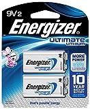 Energizer L522BP2 Ultimate 9 V Batteries, Lithium 9V Battery (2 Count) L522BP-2, 4'' Height, 3.25'' width