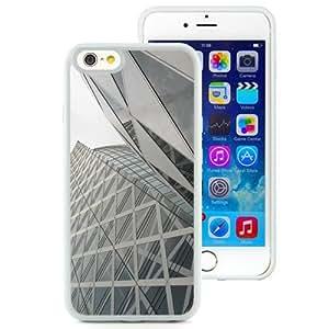 NEW Unique Custom Designed iPhone 6 4.7 Inch TPU Phone Case With Tokyo Architecture Glass Building Skyscraper_White Phone Case