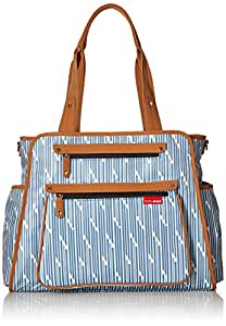 skip hop grand central take it all diaper bag blueprint stripe baby. Black Bedroom Furniture Sets. Home Design Ideas