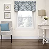 "valances window treatments  Kitchen Valances for Windows - Donnington 52"" x 18"" Short Curtain Valance Small Window Curtains Bathroom, Living Room and Kitchens, Cornflower"