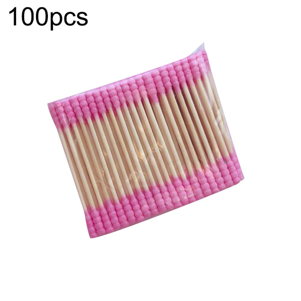 100Pcs double-head disposable cotton swab cosmetic cleaning remover