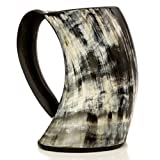 Original Viking Drinking Horn Cup Tankard By Thor Horn| Complete W/ Authentic Medieval Burlap Gift Sack| Drink Beer Like A True Viking W/ Our Horn Mug