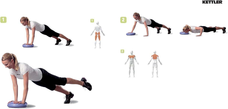Bal/ón de tonificaci/ón para Fitness Kettler Air Pad Balance, colch/ón de Aire, 33cm