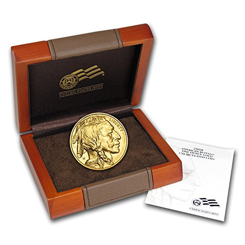 (2008 W 1 oz Gold Buffalo BU (w/Box & COA) 1 OZ Brilliant Uncirculated)