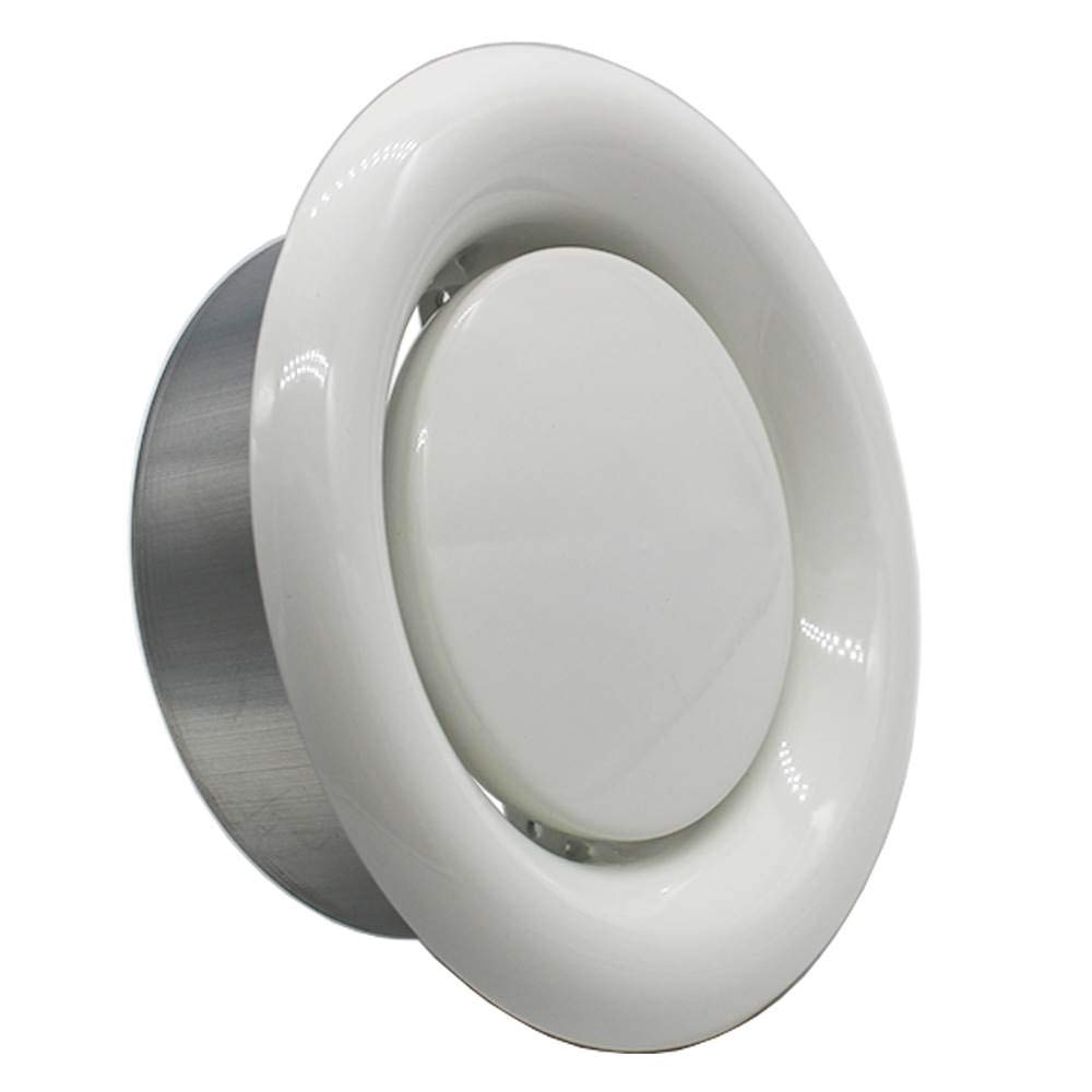 Kair Fire Rated Ceiling Extract Valve 100mm 4 inch White Coated Metal Vent