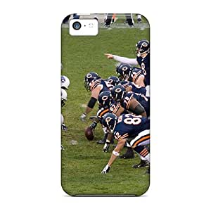 Durable Cell-phone Hard Cover For Iphone 5c With Unique Design Lifelike Chicago Bears Image SherieHallborg