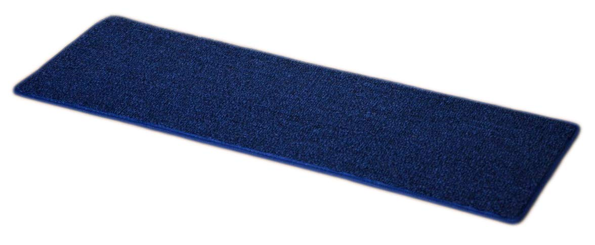 Dean Carpet Stair Treads 23'' x 8'' - Navy Blue - Set of 13 by Dean Flooring Company