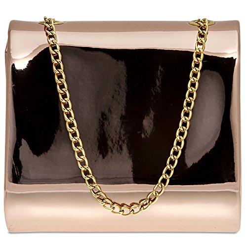CASPAR Fashion - Cartera de mano para mujer Oro Rosa ...
