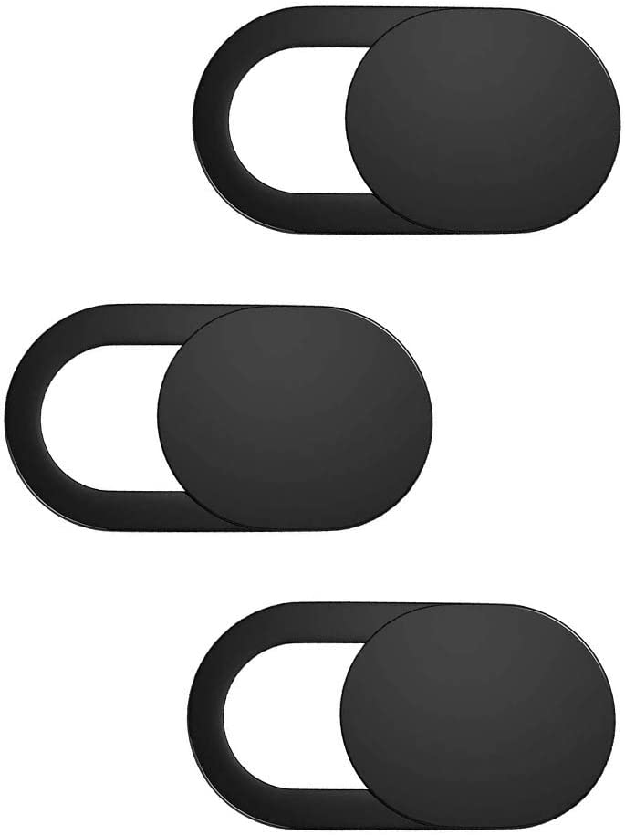 Trobing Laptop Camera Cover Slide (3 Pack) Webcam Cover Slider Stickers for Computer, MacBook Pro/Air, iPhone, Tablets, PC, iPad, iMac, Cell Phone, Echo Show, Privacy Blocker Sliding Shield,Anti-Spy