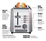 Chefman Stainless Steel 2-Slice Wide Slot Toaster w/Bagel, Defrost, and 5 Shade Settings Quickly Toasts Muffins, Bagels, Bread and More