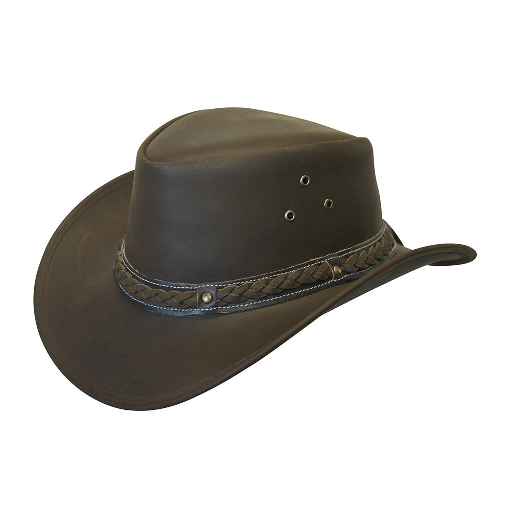 Conner Handmade Hats Down Under Leather Hat Brown XXL