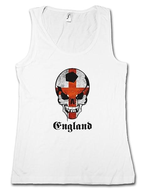 Classic FÚTBOL Football Soccer England Skull Flag Mujer Camiseta Sin Mangas Women Tank Top – Bandera