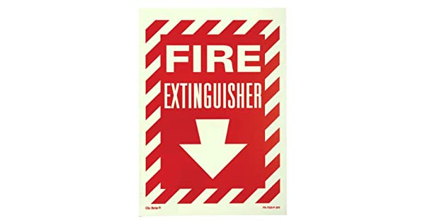 Amazon.com: Jessup Glo Brite fs-7520-f-204 Cartel Extintor ...