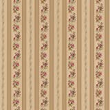 Brewster 414-56032 Princess Gold Floral Stripe Wallpaper, Gold