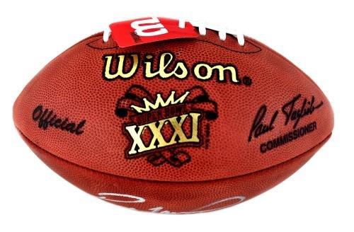 Autographed Brett Favre Ball Authentic Super Bowl 31 Silver Ink Autographed Footballs
