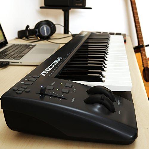 m audio keystation 49 ii 49 key usb midi keyboard controller with pitch bend modulation. Black Bedroom Furniture Sets. Home Design Ideas