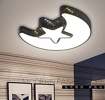 XIANGGU Luz Led Lampara Techo De Solar Colgante Etnicas Salon Embellecedor Lampara Techo Juvenil La Luz De La Luna -55Cm Niñas: Amazon.es: Iluminación