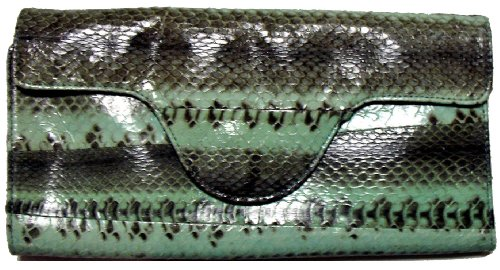 Beirn Watersnake Travel Wallet (Aqua) (Snake Handbag Water)