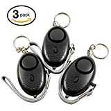 Personal Alarm Keychain for Women and Men, Device, Self Defense Safety, Sound Safe Alarm, 130db, 3 PACK - by GRP Direct