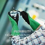 DS Safety N592 Nitrile Coating Work Gloves Chemical Resistant Nylon Latex Nitrile Gloves 18 Gauge Hycool Grip Work Gloves for Men's Work Gloves 1 Pair