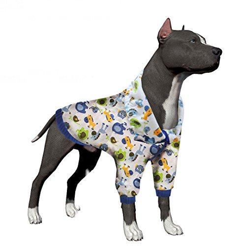 LovinPet Pajamas for Dogs Post Surgery Wear Dog Clothes Pet Dresses Big Dog Pajamas Cotton Dog Summer Shirt labrador clothes dog shirt for boxer pitbull (Please Read Description) by LovinPet