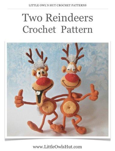 Two Reindeers Crochet Pattern Amigurumi toys (LittleOwlsHut)