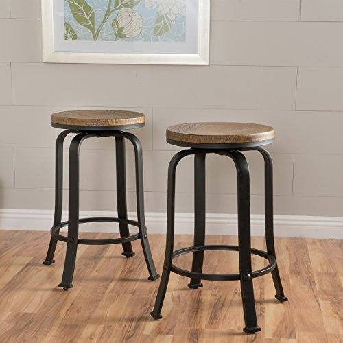 Christopher Knight Home 299092 Skyla Counter Stool (Set of 2), Dimensions: 17.00