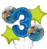 Go Diego Go Balloon Bouquet 3rd Birthday 5 pcs - Party Supplies