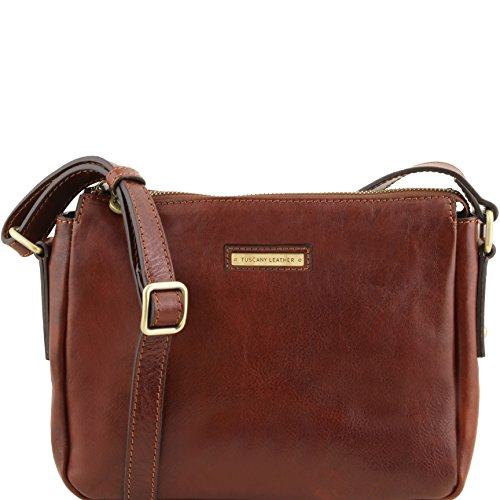 Tuscany Leather Michela Leather shoulder bag Black by Tuscany Leather