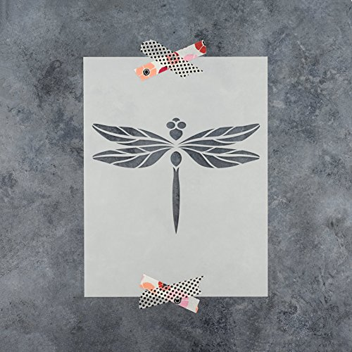 Dragonfly Stencil (Dragonfly Stencil Template - Reusable Stencil with Multiple Sizes Available)