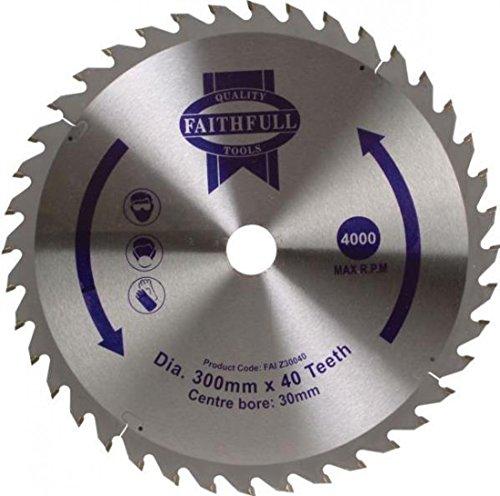 Faithfull Circular Saw Blade TCT 300 x 30 x 40 Tooth