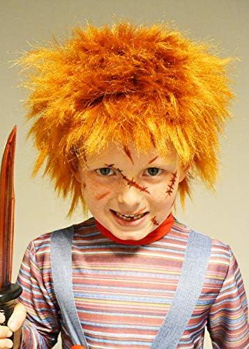 Delights Niños Chucky Style Ginger Evil Doll Peluca: Amazon.es ...