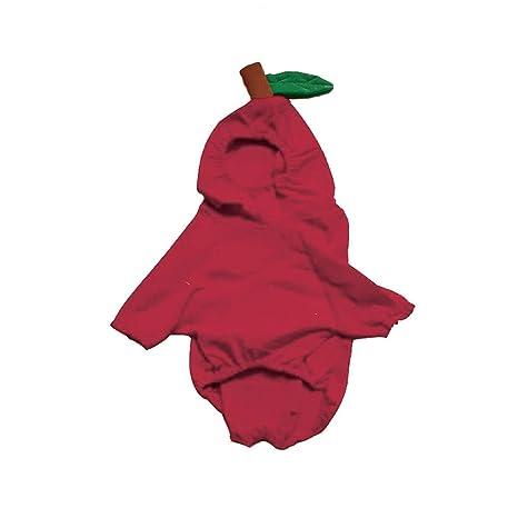 Moda Mascota Ropa Cachorro Navidad Cosplay Manzana Sudadera Sudadera Sudadera con Capucha Abrigo Ropa, Beautytop